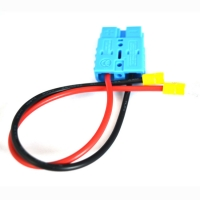 Quality UL1015 12AWG 50A Power Extension Cable With R Yellow Semi Insulated Terminal for sale