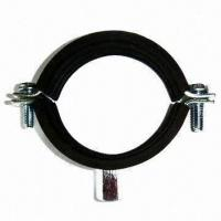 Quality Pipe Clamps with Rubber with Nut, Suitable for Buildings, Available in Size of 5 Inches for sale