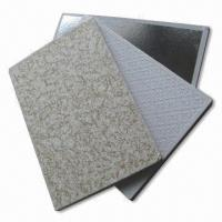 Quality Gypsum Ceiling Tiles with Imported Latex Painting, Easy-to-clean for sale