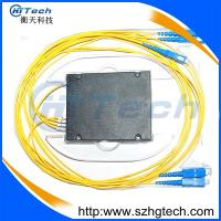 Quality ABS Box 1*4 PLC Fiber Optic Splitter with SC/UPC connector for FTTH for sale
