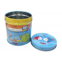 Quality Diameter 8cm CMYK Print Round Metal Tins With Lids For Candy Tea Packing for sale