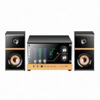 Quality 2.1-channel Wooden Multimedia Speakers for Computer, with USB/SD and Double-karaoke Jack for sale