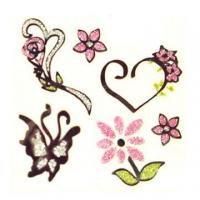 Quality Tattoo Stickers, Available in Various Patterns and Sizes, Non-toxic Material for sale