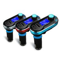 China BLUETOOTH CAR FM TRANSMITTER + DUAL PORT 2.1A CAR CHARGER on sale