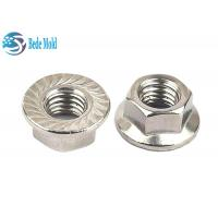 Nickel / Zinc Plating Nuts And Bolts Metric Hex Head Flange Nuts 8.8 9.9 12.9