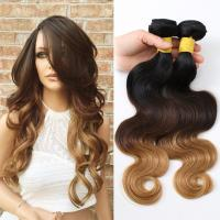 China 3 bundles Peruvian Remy Human Hair Ombre Hair 1B/4/27 Body Wave 10~30inch wholesale