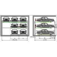 Quality Three Level Puzzle Automated Parking Garage , Garage Lift System 380V 50HZ for sale