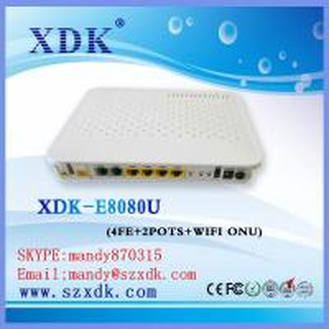 Quality ZTE/HUAWEI/BDCOM 4 port wireless EPON ONT terminal English firmware EPON ONT GPON ONU wifi for sale