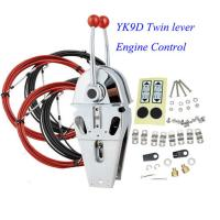 China Whaleflo YK9D Boat Marine Twin Lever Engine Throttle Control 080CC(33C)Control Cable on sale