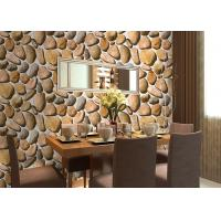 China Cobblestone Printing Natural Style 3D Home Decoration Wallpaper CE / ISO / SGS / CSA Test wholesale