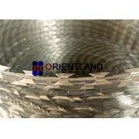 China Steel Concertina Barbed Wire / BTO 22 Razor Sharp Wire For Government Buildings on sale