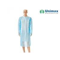 Quality Plastic Long Sleeve AAMI PB70 Disposable Isolation Gowns for sale