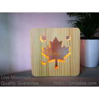 Buy cheap Pet Funeral Aftercare Supplies Innovative Memorial Gifts Maple Leaves Wood Light from wholesalers