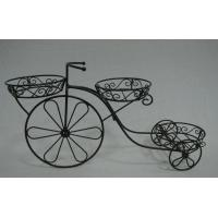Quality Outdoor patio yard garden ornamental metal tricycle flower stand for sale