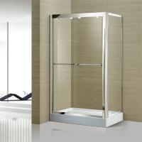 Quality Australian Standard Tempered Glass Sliding Door Glass Shower Enclosure with Stainless Steel Frame for sale