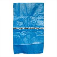 Quality Durable Blue PP Woven Bags for Packing Chemicals / Industrial Polypropylene Sacks for sale