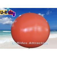 China Digital Print Red Round Inflatable Pool Toys Buoys With Hot Air Welding on sale