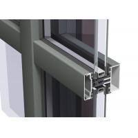 Quality Easy Cleaning Curtain Wall Aluminium Profiles , Unitised Curtain Wall GB Certified for sale
