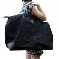 China EFD press logo 75gsm nonwoven fabric with PU handle and full zipper Luxury Fabric carrier bags on sale
