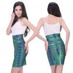 Soft fabric bronzing multi color short bodycon dress mini skirt
