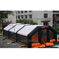 Quality 210D PVC Coated Nylon Inflatable Paintball Tent / Paintball Arena With Air Blowers for sale
