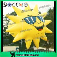 Quality Customized Inflatable Sun Replica Cartoon For Sunglasses Advertising for sale