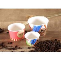 Quality Logo Printing Disposable Bowls For Hot Soup , Individual Paper Soup Bowls for sale