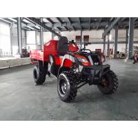 Quality Red One Seat 200CC GY6 4x4 Utility ATV FAMER Tractor , Tipping Quad for sale