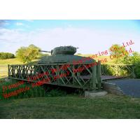 Quality Pre-engineered Modular Military Pontoon Bailey Bridge Heavy Load Capacity for sale