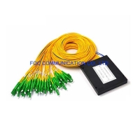 Quality 2×64 ABS Fiber PLC Splitter LC APC 1650nm FTTC For Passive Optical Networks for sale