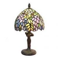 China TL080006-Leaf table lampes tiffany lady figurine zinc alloy/polyresin tiffany lamp base on sale