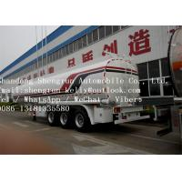 Quality 50000 Liters Fuel Tanker Trailer With Dual Line Braking System 44.6M3 Volume for sale