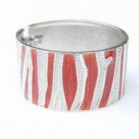 Quality Metal Bangle in Bamboo Design, Made of Alloy and Resin for sale
