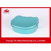 Quality Irregular Children Tinplated Candy Gift Boxes Blue 75 * 68 * 40 MM With Cap for sale