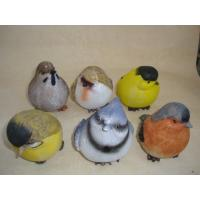 Quality Bright Coloured Polyresin Figurine Small Animal Bird Statues Figurines for sale