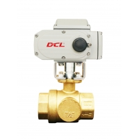 Quality PTFE Seat 1/4 Inch Electric Actuated Brass Ball Valve for sale