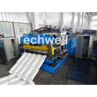 Quality 7.5KW Metal Tile Roll Forming Machine For Color Steel / Galvanized Coil for sale