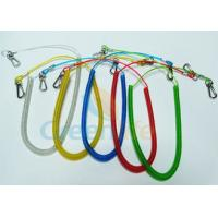 Quality Retractable Long Coiled Fishing Tool Lanyard , Fall Protection Fishing Rod Leash for sale