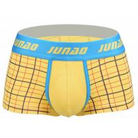Quality High Stretch Short Trunks Underwear , Low Rise Male Boxers Underwear for sale