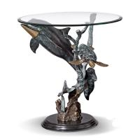 Quality round dolphins stand coffee table for sale