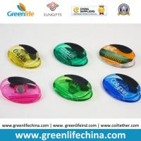 Quality Plastic Magnet Clip Transparent Colors Oval Shape Office Stationery for sale