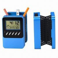 Quality Solar Pen Holder with Digital Clock for sale