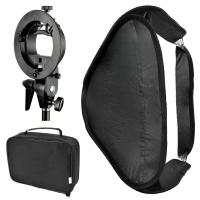 Quality Bowens Mount Foldable Softbox with S-Type Flash Bracket for Photo Studio Flash Speedlite for sale