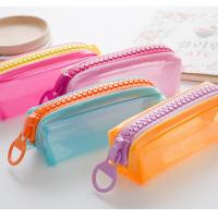 Candy Color PVC Pencil Bag Pouch Cases / Bags With Logo Printing OEM