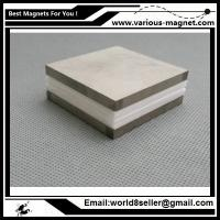China SmCo Magnet Block 40.5x40.5x5 mm YXG30H, 350degree C High Temperature Mortor Magnet Permanent Rare Earth Magnets for Bor on sale