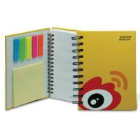 China spiral notebook with sticky note notepad writing pad on sale