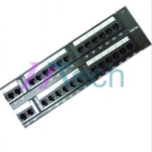 Quality Cat5E 48 Port UTP Patch Panel Dual IDC for sale