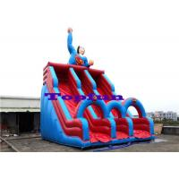 Quality Hero Designing Inflatable Water Slide Double Lanes Slide Kids Outdoor Fun for sale