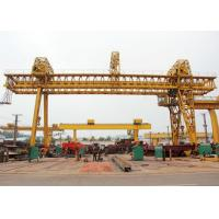 Quality Truss Double Girder Gantry Crane Industrial A Frame Rubber Tired Electric Motors Driving for sale