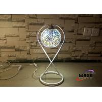 China Maso 3D Fantastic Effect Glass Chrome Cover Metal Material Lamp Body E27 Screw Lamp Base Table Lamp For Bedroom Study on sale